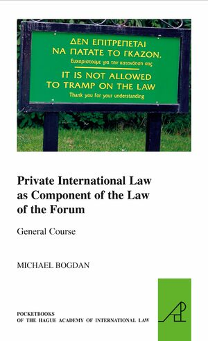 Cover Private International Law as Component of the Law of the Forum