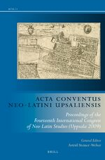 Acta Conventus Neo-Latini Upsaliensis (set, two volumes)