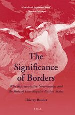 Cover The Significance of Borders