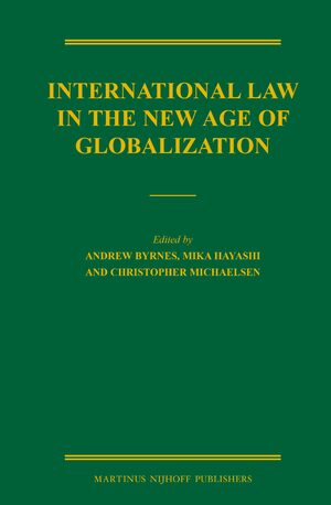 Cover International Law in the New Age of Globalization
