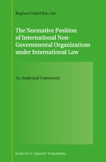 The Normative Position of International Non-Governmental Organizations under International Law