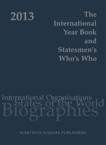 Cover The International Year Book and Statesmen's Who's Who 2013