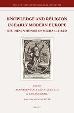 Cover Knowledge and Religion in Early Modern Europe