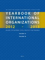 Cover Yearbook of International Organizations 2012-2013 (Volumes 1A-1B)