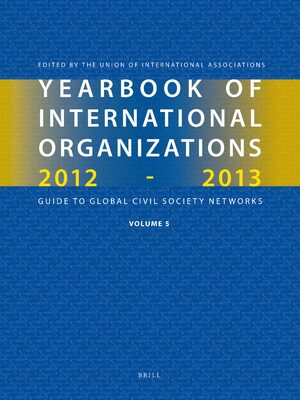 Cover Yearbook of International Organizations 2012-2013 (Volume 5)