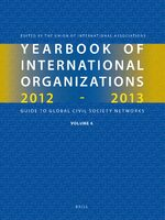 Cover Yearbook of International Organizations 2012-2013 (Volume 6)