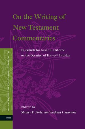 Cover On the Writing of New Testament Commentaries