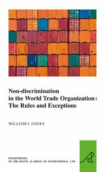 Cover Non-discrimination in the World Trade Organization