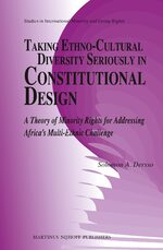 Cover Taking Ethno-Cultural Diversity Seriously in Constitutional Design