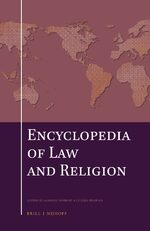 Cover The Encyclopedia of Law and Religion (SET)