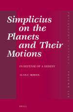 Cover Simplicius on the Planets and Their Motions