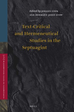 Cover Text-Critical and Hermeneutical Studies in the Septuagint