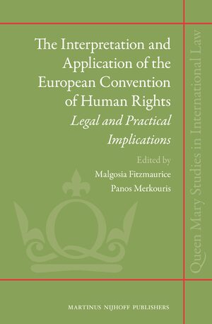 Cover The Interpretation and Application of the European Convention of Human Rights