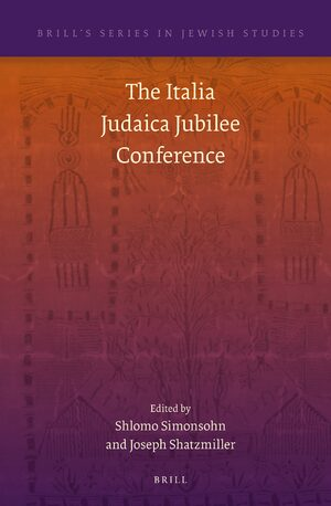 Cover The Italia Judaica Jubilee Conference