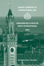 Cover Hague Yearbook of International Law / Annuaire de La Haye de Droit International, Vol. 23 (2010)