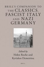 Cover Brill's Companion to the Classics, Fascist Italy and Nazi Germany