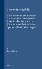 Cover Species intelligibilis: From Perception to Knowledge