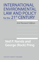 Cover International Environmental Law and Policy for the 21st Century