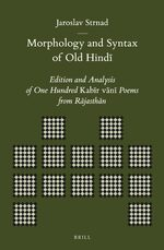Cover Morphology and Syntax of Old Hindī