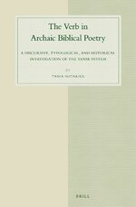 Cover The Verb in Archaic Biblical Poetry