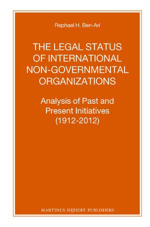 Cover The Legal Status of International Non-Governmental Organizations
