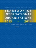 Cover Yearbook of International Organizations 2013-2014 (Volumes 1A-1B)