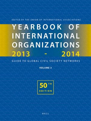 Cover Yearbook of International Organizations 2013-2014 (Volume 3)