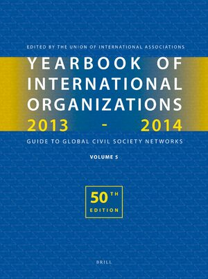 Cover Yearbook of International Organizations 2013-2014 (Volume 5)