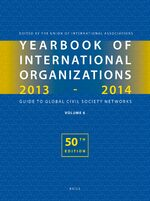 Cover Yearbook of International Organizations 2013-2014 (Volume 6)