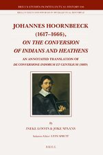 Cover Johannes Hoornbeeck (1617-1666), <i>On the Conversion of Indians and Heathens</i>