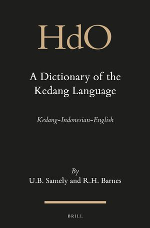 Cover A Dictionary of the Kedang Language
