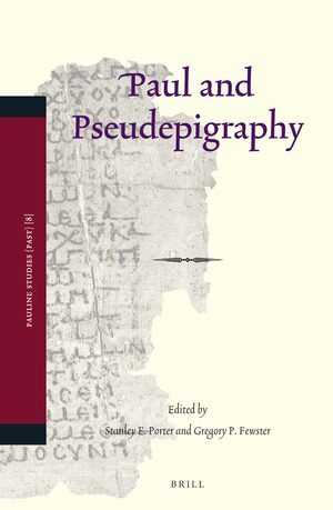 Cover Paul and Pseudepigraphy