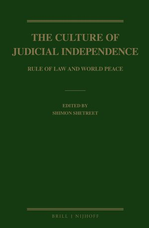Cover The Culture of Judicial Independence