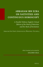 Cover Abraham Ibn Ezra on Nativities and Continuous Horoscopy