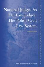 Cover National Judges as EU Law Judges: The Polish Civil Law System
