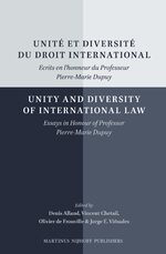 Cover Unité et diversité du droit international/Unity and Diversity of International Law