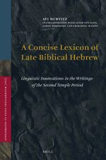 Cover A Concise Lexicon of Late Biblical Hebrew