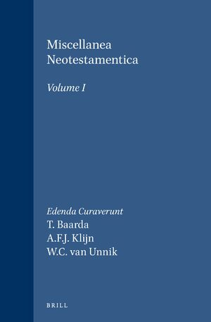 Cover Miscellanea Neotestamentica, Volume I