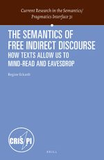 Cover The Semantics of Free Indirect Discourse