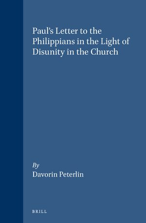 Cover Paul's Letter to the Philippians in the Light of Disunity in the Church
