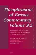 Cover Theophrastus of Eresus, Commentary Volume 9.2