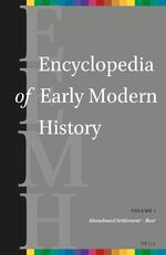 Cover Encyclopedia of Early Modern History, volume 1