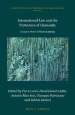 Cover International Law and the Protection of Humanity