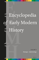 Cover Encyclopedia of Early Modern History, volume 4