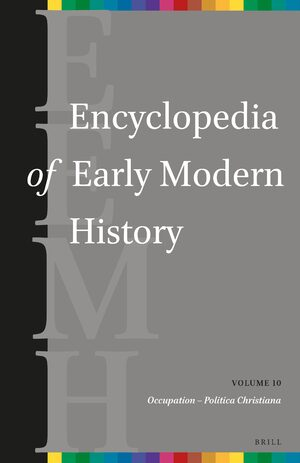 Cover Encyclopedia of Early Modern History, volume 10