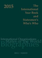 Cover The International Year Book and Statesmen's Who's Who 2015