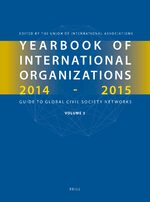 Cover Yearbook of International Organizations 2014-2015 (Volume 3)