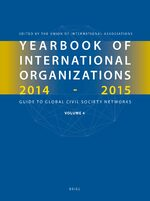 Cover Yearbook of International Organizations 2014-2015 (Volume 4)