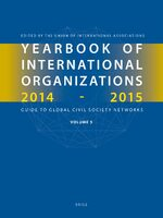 Cover Yearbook of International Organizations 2014-2015 (Volume 5)