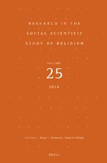 Research in the Social Scientific Study of Religion, Volume 25